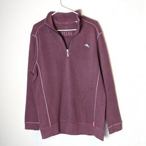Tommy Bahama Relax mock sweater, men's medium NWOT